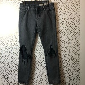 ALL SAINTS grey distressed jeans SIZE 27